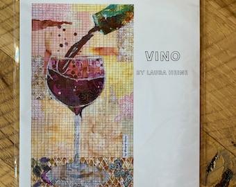 Vino collage pattern by Laura Heine of Fiberworks