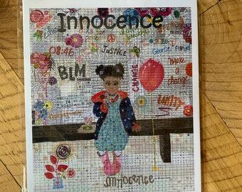 Innocence collage pattern by Laura Heine of Fiberworks