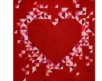 One Heart Quilt pattern A Modern Quilt pattern