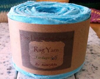 Rag yarn, Rug making, Fiber Arts supplies, Bahama Blue