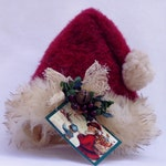 Primitive Santa Hat Ornament Ornie or Small Tree Topper by Happy Valley Primitives