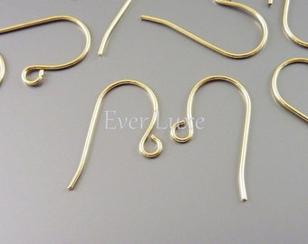 BEST seller! 50 High quality basic brass hook ear wires, earring hooks, fish hook earring wires, french hook earrings B055-BG