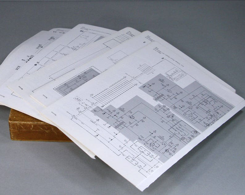 Vintage Electronic Schematics - Great for Collage Mixed Media or Gift Wrap  - Free Shipping