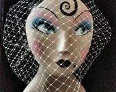 Beatrice Birdcage veil with Swarovski Diamantes - Made to Order - Modern Wedding Bridal