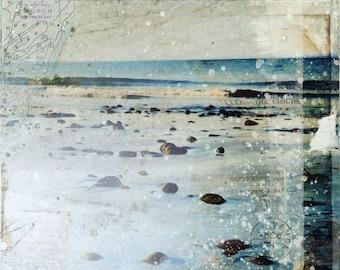 Sea Spray | Coastal decor mixed media art print