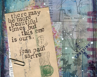 Day 1 - paper print - 30x30 project Jean Paul Sartre quote