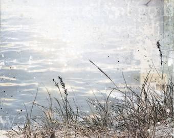 Wavelets Wake | Coastal decor art print | Mixed Media Poster | Beach Art print | Paper Print