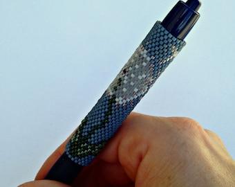 Pen Cover Pattern - Dandelion - Peyote Pattern