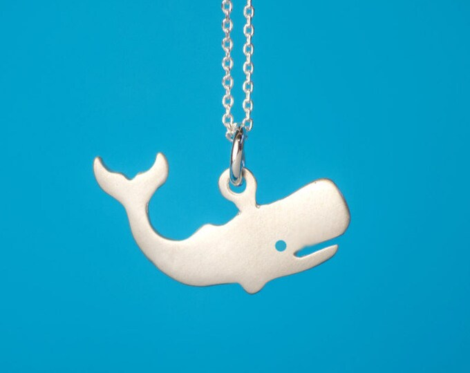 SALE Whale pendant necklace Golden Whale sterling silver Kids necklace Teen jewelry gift women animal pendant animal necklace gift kids