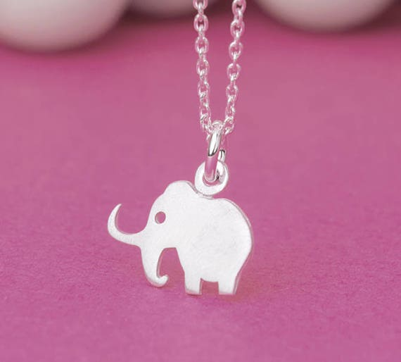 SALE Mammoth Necklace Elephant Pendant Ice Age pendant sterling silver gift  kids Birthday Jewelry Woolly Mammoth Birthday gift for her