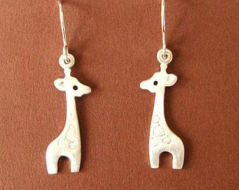 Giraffe Dangle Earrings Sterling Silver Kids Jewelry Girls Earrings Women Animal Drop earring Jewelry  Cute Kawaii Earring