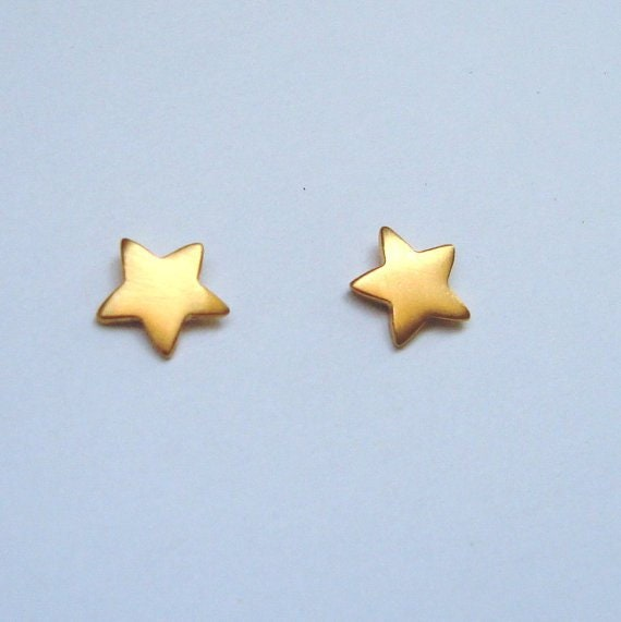 Star Earrings Star Posts Tiny Stud Earrings Unique 14K  9K Gold Earrings Gold Post Earrings Dainty Gold Studs Gold Star Earrings