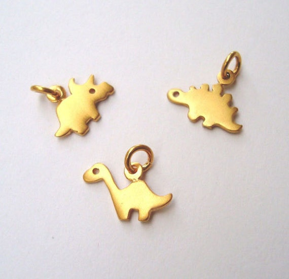 Gold Dinosaur Necklace Minima Pendant Chic And Small Animal Silver