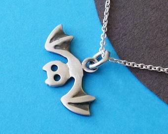 Bat Necklace sterling silver Bat Pendant  Kids Jewelry Charm Goth Jewelry Birthday necklace teen Jewelry animal pendant Birthday gift