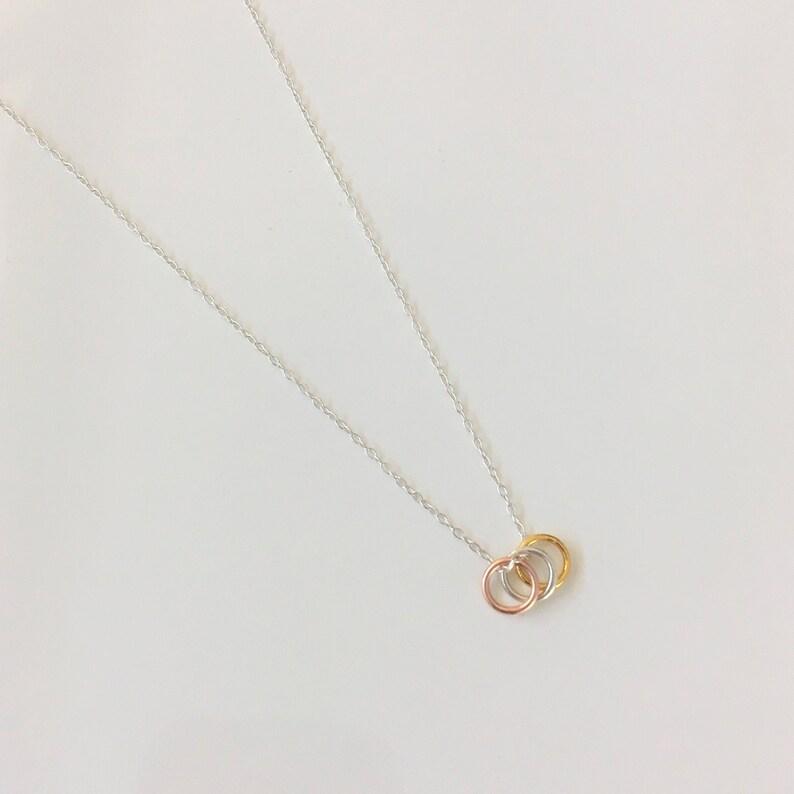 Handmade Geometric Tiny Circles Necklace image 0
