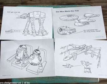 Star Wars Postcards (set of 4)