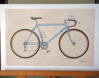 Classic Ten-Speed Bicycle (13x19)