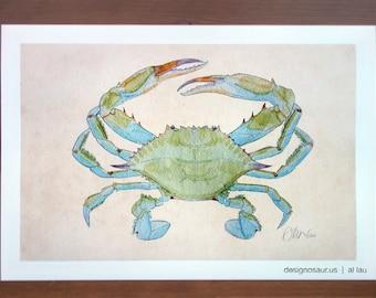 Blue Crab (13x19)