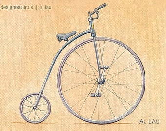 High Wheel Bicycle (8x10)
