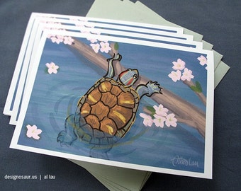 Turtle Greeting Cards (set of 4)