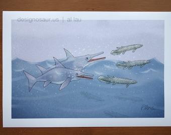 Ichthyosaurs (13 x 19)