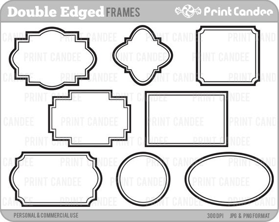 70% OFF SALE Double-Edge Frames Personal and Commercial | Etsy