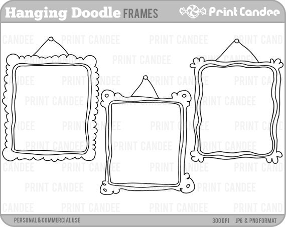 70% OFF SALE Hanging Doodle Frames Personal and