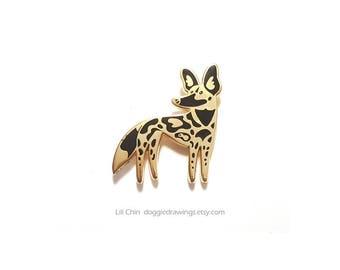 African Wild Dog enamel pin - Wildlife series