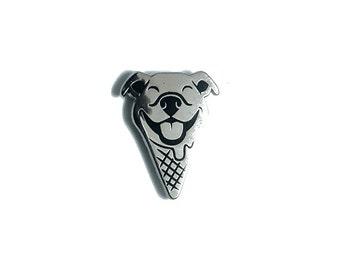 Pit Bull Ice Cream Enamel Pin