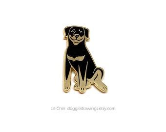 Rottweiler - Dog Enamel Pin