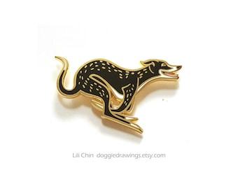 Greyhound / Sighthound  - Dog Enamel Pin