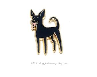 Formosan Mountain Dog / Taiwan Dog - Dog Enamel Pin