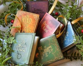Literature Classics - 6 Miniature Book Christmas Ornaments