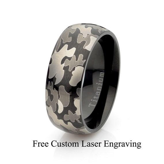 Best Quality Free Gift Box Titanium 8mm Laser Design Brushed Band