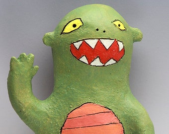 Friendly Monster Wally—Ceramic Wall Art
