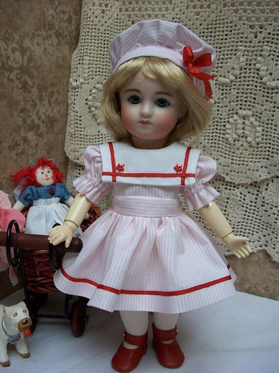 "9/"" Loulotte Wardrobe  PATTERN  #2  Dresses Pinafore Undies  Bleuette Friend"