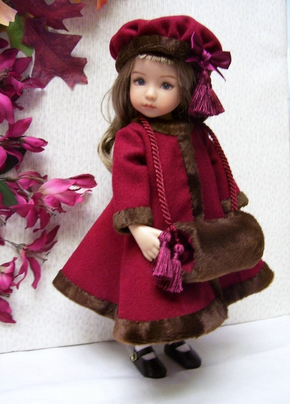 """Effner 13/"""" Little Darling PATTERN for Dress Muff and Hat Winter Coat"""