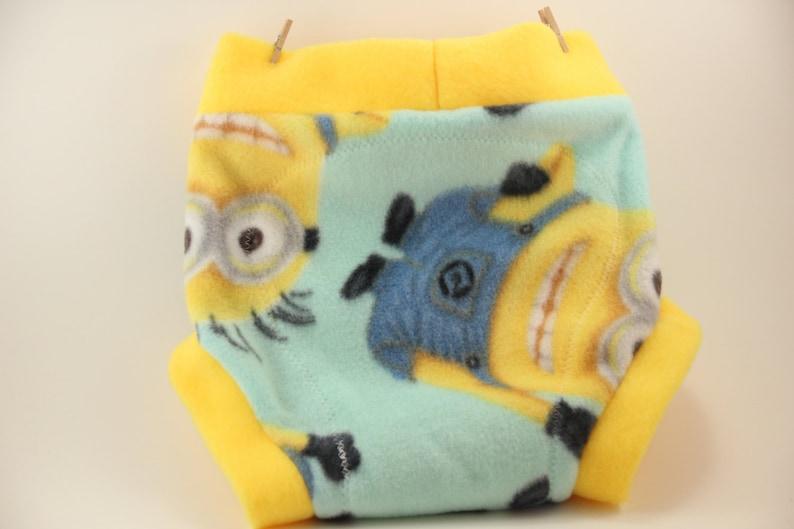 Great Baby Shower Gift Minion Fleece Shortie Soaker Diaper Cover