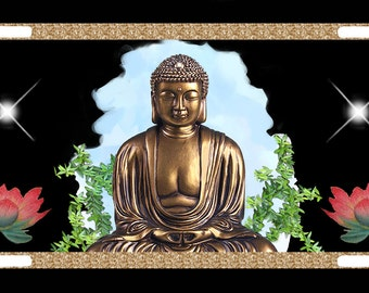 BUDDHA EYES METAL LICENSE PLATE FOR CARS BUDDHISM BUDDHIST FAITH