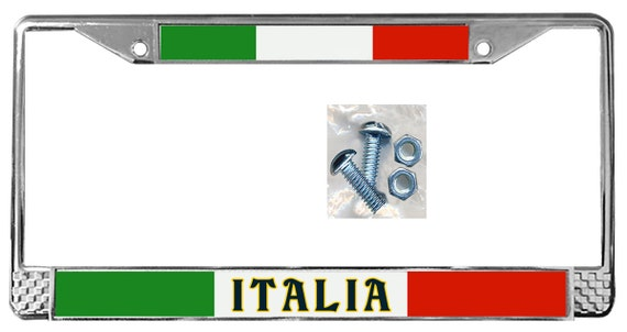 Italian Flag License Plate Frame Personalize Gifts Girls