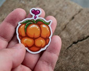 Cloudberry Love - Alaska Native Inupiaq Art Sticker