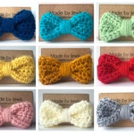 Crocheted Hair Bow - You Choose Color - Buy 3, get 1 FREE