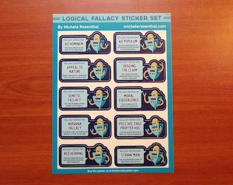 Logical Fallacy sticker sheet