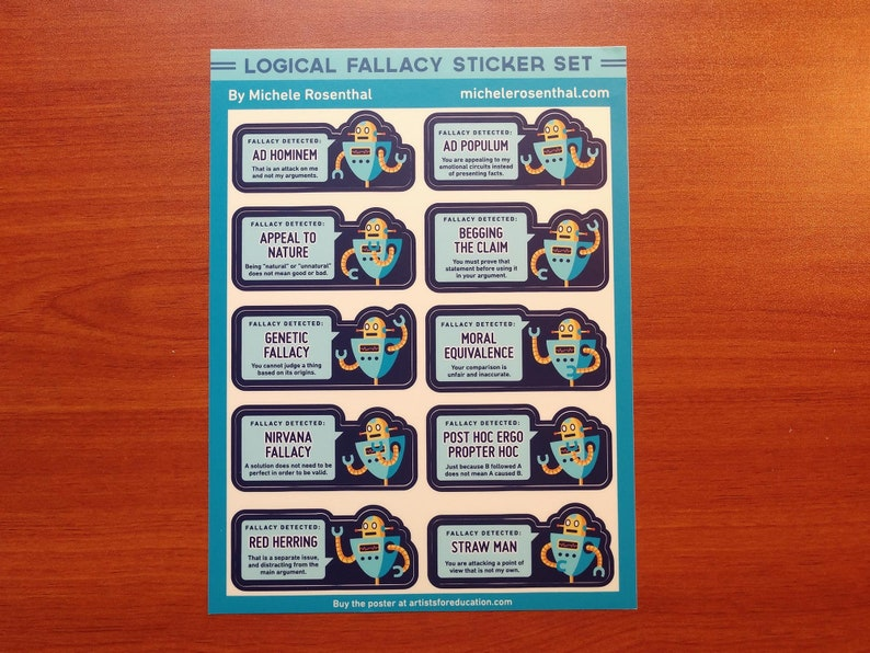 Logical Fallacy sticker sheet image 0