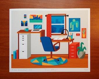 Dream Office print