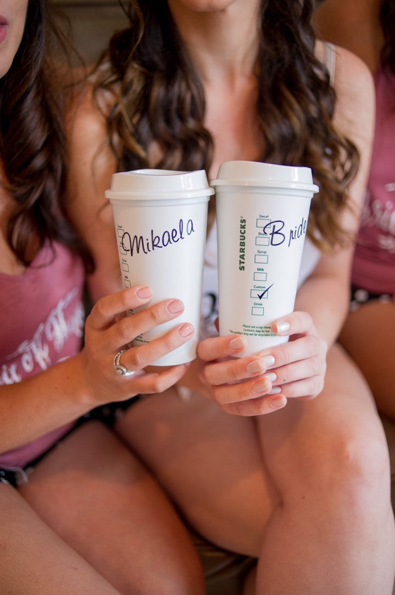 Starbucks Cup Bridesmaid Gift Personalized Starbucks Reusable Tumbler STARBUCKS TUMBLER