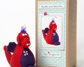 Dragon Needle Felting Kit-Felting gift-Needle Felting Kit-Woollie and Feltie Kit,Dilly's
