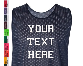Custom Made Badger - Pro Mesh LAX Reversible Practice Jersey - 8560 Vinyl  or Glitter Print Customized All Colors 0d19166ff