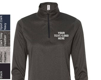Personalized All Sport - Women s Quarter-Zip Lightweight Pullover - W3006  with Vinyl   Glitter Print All sizes and colors d6c7d7a422
