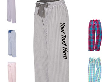 Custom Made Personalized Boxercraft VIP Cotton Pants C16 Glitter or Vinyl Print  Customized Pajama Style Pants with your text 168447212